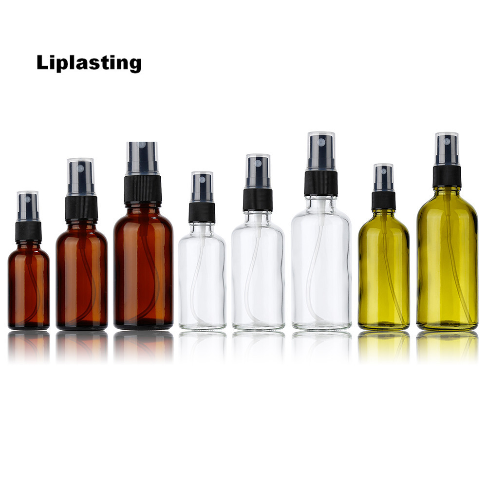 Liplasting Empty Glass Bottle Essential Oil Liquid Sprayer 3 Size 30/50/100ml Makeup Atomizer Dispenser Refillable Bottles 6pcs 1oz 30ml amber glass spray bottle w black fine mist sprayer refillable essential oil bottles empty cosmetic containers