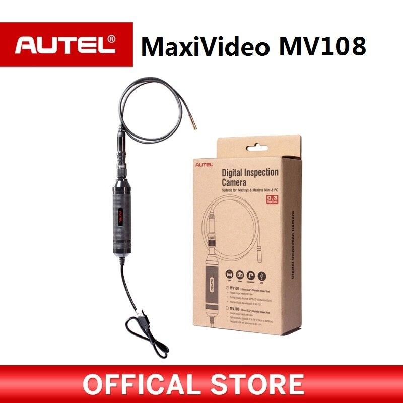 Autel MaxiVideo MV108 8,5 мм Цифровой инспекции Камера мощный и идеально подходит для проверки большинства отверстия свечей зажигания