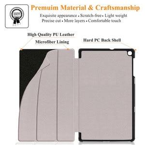 Image 3 - Slim Shell Case Voor Samsung Galaxy Tab Een 10.1 2019 Lichtgewicht Stand Cover Voor Samsung Galaxy Tab Een 10.1 inch T510 T515 Tablet