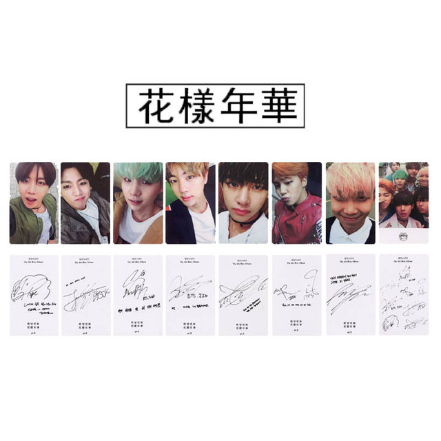 US $2 3 20% OFF Youpop KPOP BTS Bangtan Boys RUN I NEED U Album Photo Card  K POP Self Made Paper Cards Autograph Photocard XK417-in Jewelry Findings &