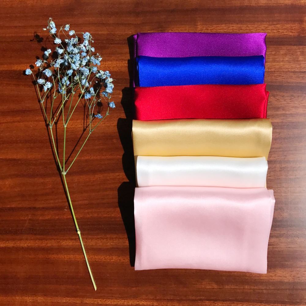 CiciTree 100% Natural Silk Men Pocket Square Men's 35cm Plain Solid Color Handkerchief For Wedding Party Father's Day Gift