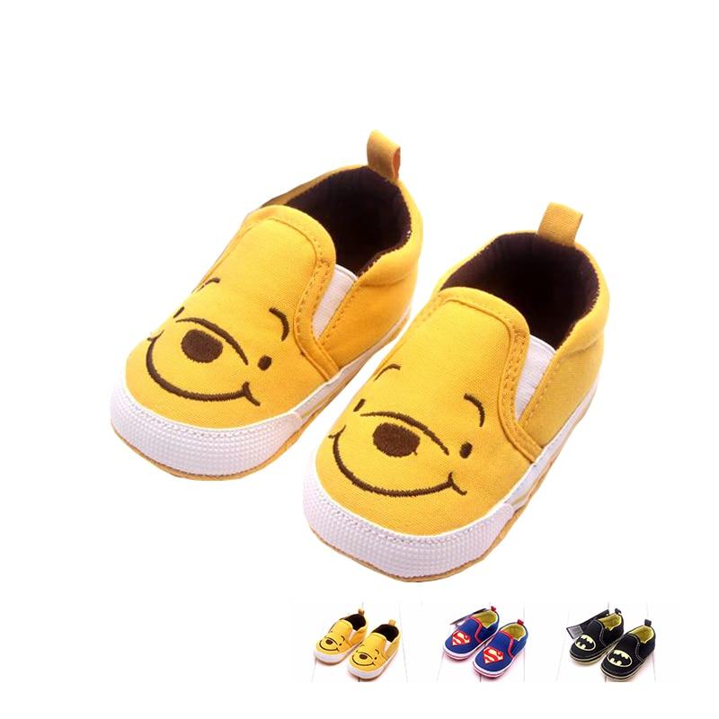 Hot Sale Newborn Baby First Walker Shoe Cotton Cartoon Winnie ShallowToddle BabyBoy's Shoes 0-2T