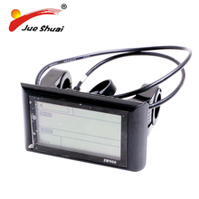36v 48v big screen 900LCD bike computer with normal water-proof connect wire bicycle speedometer for powerful electric bike kits