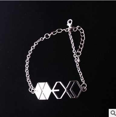 Fashion Jewelry Silver Charm EXO Bracelet For Men And Women