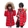 Jaqueta de Inverno das crianças para Meninos Snowsuit Minnie Mouse Pato Para Baixo casaco Bebê Outwear Gola de Pele Do Falso Com Capuz Menino Parka Criança Outwear