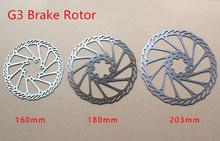 1pcs Stainless Steel G3 MTB Disc Brake Rotor 160mm 180mm 203mm Mountain Bike Cycling 6 Holes Rotor With Screws BB5 BB7 цена 2017