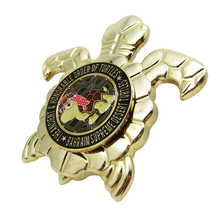 Design turtle shape engraving coin custom metal