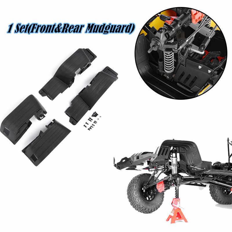 1 комплект 1/10 Rc автомобиль Пластик передние и задние брызговик, крыло для RC комплект автомобильных принадлежностей для передней и задней оси SCX10 II 90046 запасные части
