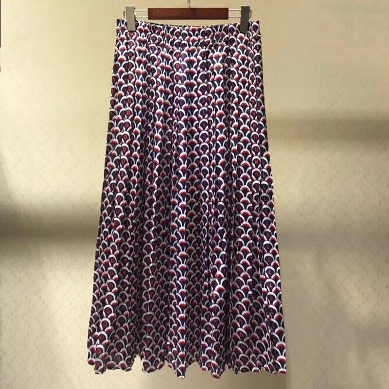 Imprimer Femmes Qualité Taille Haute A Mode L'été 2019 Pour Nouveau Supérieure ligne Jupe Longue 6rxwqW64OB