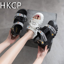 HKCP summers new thick-soled loin and sandal with fish-snout buckle go well Roman womens shoe trend C112