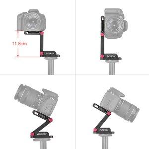 Image 4 - AndoerอลูมิเนียมZ Flexเอียงขาตั้งกล้องพับQuick Releaseแผ่นกล้องHeadสำหรับCanon Nikon Sony DSLR stabilizer