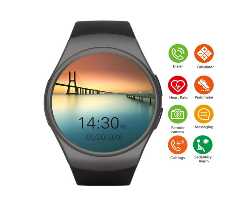 цены на KW18 smart watch for Samsung Xiaomi iPhone android ,iOS tracker with heart rate sim card Passometer smartwatch men monitor