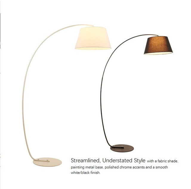 Overhanging Floor Lamp with Arch Extending Rod 180cm Height Superior ...