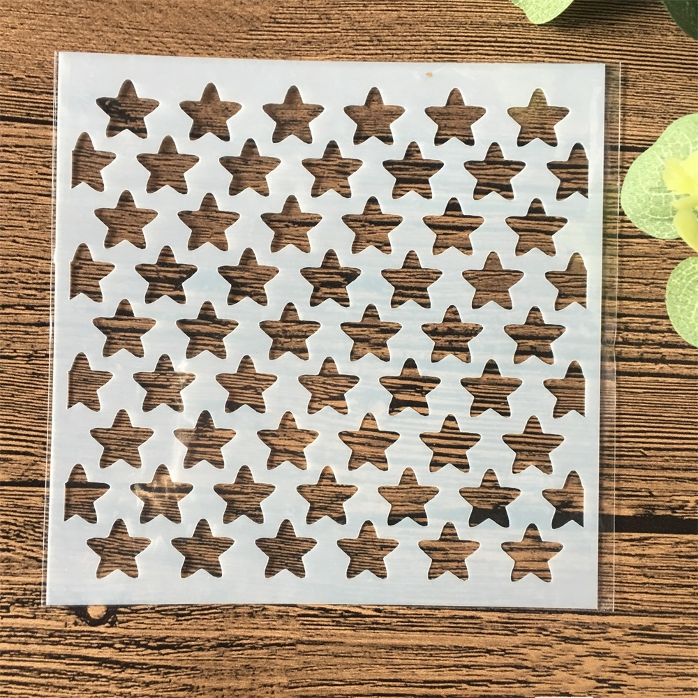 13cm Star Texture DIY Craft Layering Stencils Wall Painting Scrapbooking Stamping Embossing Album Card Template
