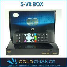 S V8 HD receptor de satélite S-V8 soporte 2 xUSB puertos USB Wifi WEB TV Cccamd Newcamd YouPorn pronóstico del tiempo V8