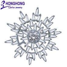 Высокое качество Botany солнце цветок броши булавка для женщин Свадебные букеты Броши Кристалл Мода ювелирные изделия