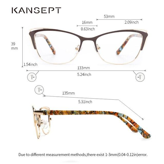 Metal Cat Eye Eyeglasses  2