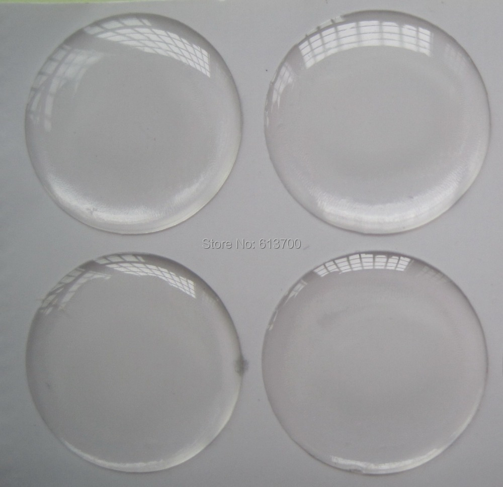 500 Pcs 1 inch 25.4mm Clear Epoxy Stickers Bottle Caps kit Round 3D Dome Free Shipping