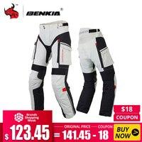 BENKIA Для мужчин мотоциклетные штаны Зимние ралли брюки со съемной теплой подкладкой Off Road Мотокросс брюки Pantalon Moto S XXXXL