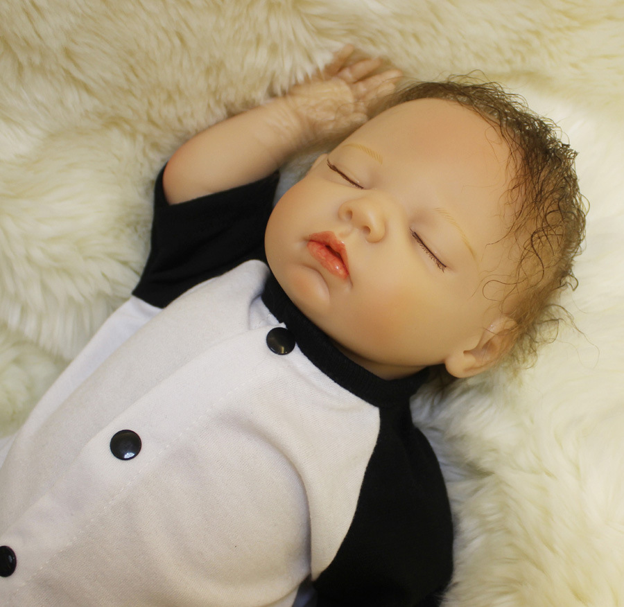 Image 5 - OtardDolls Bebe Reborn Dolls 18 inch Reborn Baby Doll Soft Vinyl Silicon Newborn Doll bonecas Panda Clothes For Children Gifts-in Dolls from Toys & Hobbies