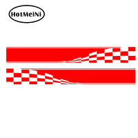 HotMeiNi 2x Checkered Flag Dynamic Movement To Accelerate Forward Racing Sport Car JDM Stripe Styling Accessories Vinyl Decal