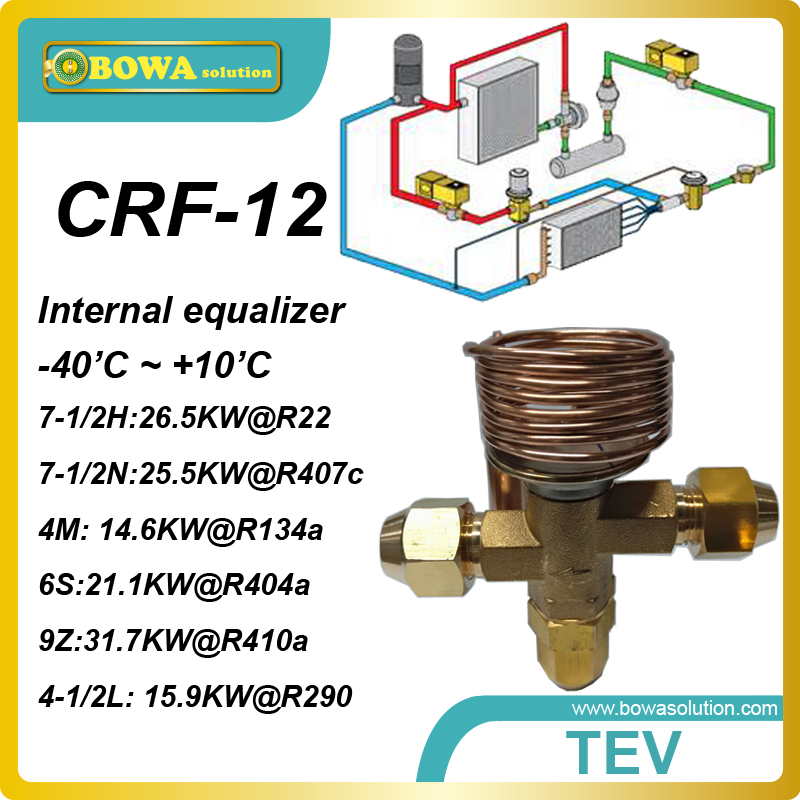 CRT-12 R404a 21KW cooling capacityand thread connection TX valve for oil cooler, water cooler and  other freezer machine 13mm male thread pressure relief valve for air compressor