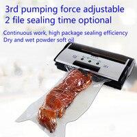 Полностью автоматическая коммерческих вакуумный упаковщик сухой и влажной вакуумный насос мелкая бытовая машина упаковки продуктов питан