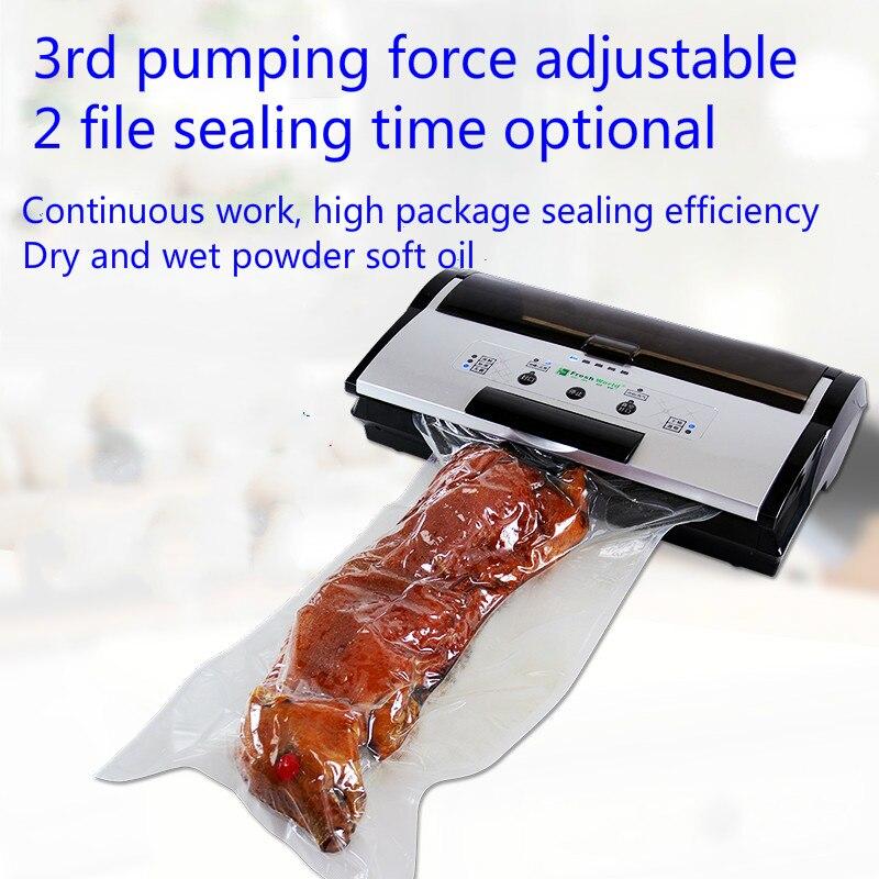 Machine à emballer de nourriture de ménage de pompe à vide humide et sèche complètement automatique de scelleur de vide