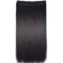 TOPREETY Heat Resistant B5 Synthetic Fiber 24″ 60cm 120gr Straight 5 clips on clip in hair Extensions 90 colors available