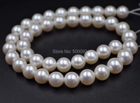 AAA wholesale 9.5 10mm white round freshwater pearl strand 40cm
