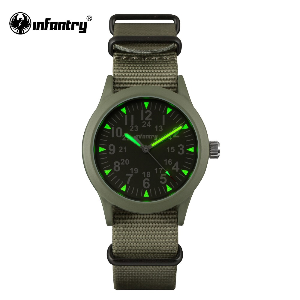 INFANTRY Military Watch Men Glow in Dark Mens Watches Top Brand Luxury Army Tactical Watch for Men Nato Strap Relogio Masculino