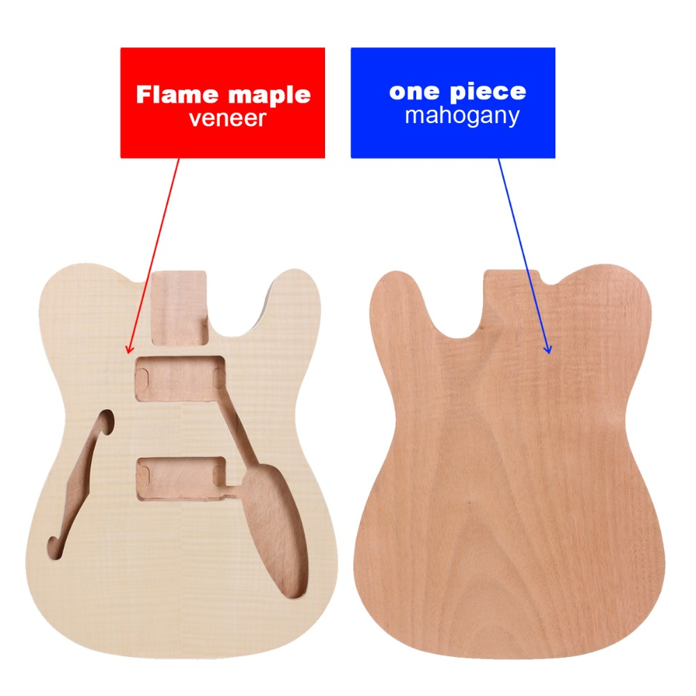 Unfinished <font><b>Guitar</b></font> <font><b>Body</b></font> Mahogany <font><b>Telecaster</b></font> Electric <font><b>Guitar</b></font> maple top RIGHT Hand image