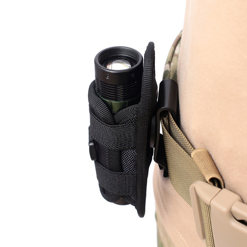 New ! 360 Degrees Rotatable Flashlight Pouch Tactical Nylon Torch Carry Case Belt Pouch Outdoor Handing Small Bag