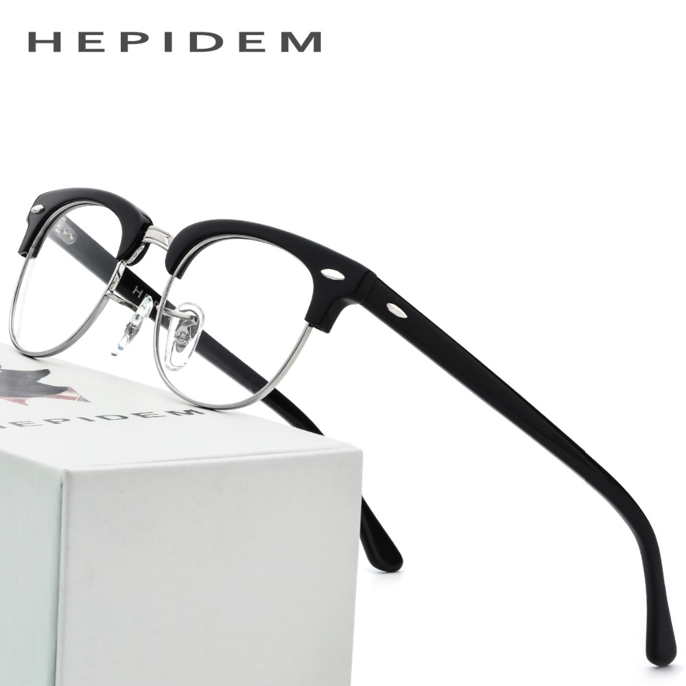 Acetate Glasses Frame Men Metal Tom Round Eye Prescription Eyeglasses for Women Metal Myopia Optical Frames Spectacles Eyewear acetate prescription glasses frame men oliver full round spectacles fors women peoples optical nerd myopia wood grain eyeglasses