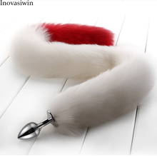 New Fox Tail Plug Anal Whit and Red Metal Tail Anal  Plug Toys Fox Tail Anal Plug Erotic Toys Butt Plug Sex Toys for Couple Sexy Butt Plug Adult Games Sex Toys Cosplay Sex Adult Game printio кот kat