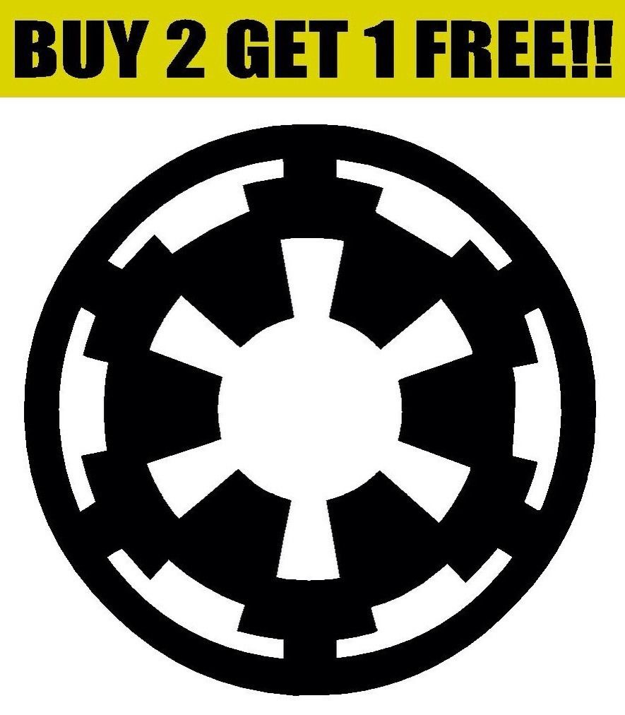 Galactic Empire Symbol Logo Vinyl Decal Sticker Bumper Window Wall