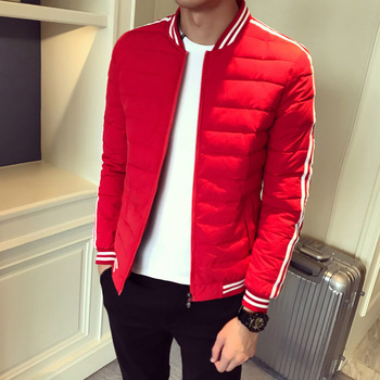 Brand Male Autumn Spring Fashion Jackets Solid Windbreaker Men Cotton Stylish Casual Striped Parkas Jacket Men Clothes