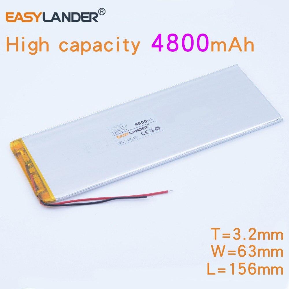 3263156 de 3,7 V 4800 mAh recargable li batería de polímero de iones de litio para Tablet PC CHUWI Hi8 hi8 pro xv8 DVD DVR 3565155, 3263158