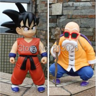2pcs/set Dragon Ball Z Goku Master Roshi Action Figure PVC Collection figures toys for christmas gift brinquedos with Retail box iron man action figure mini egg attack light 6pcs set action figures pvc brinquedos collection figures toys for christmas gift