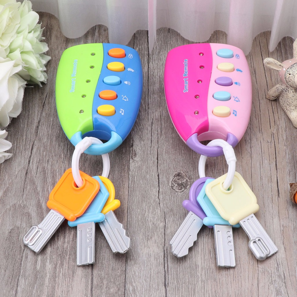 HBB Baby Toy Musical Car Key Toy Smart Remote Car Voices Pretend Play Education Toy