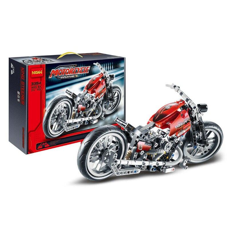 378 stücke Decool 3354 Technik Motorrad Exploiture Modell Harley Fahrzeug Baustein Ziegel Spielzeug Für Kinder Geschenk