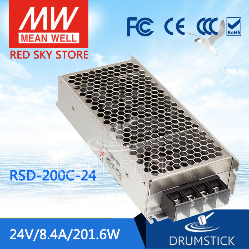 цена на Advantages MEAN WELL RSD-200C-24 24V 4.2A meanwell RSD-200 24V 201.6W Railway Single Output DC-DC Converter