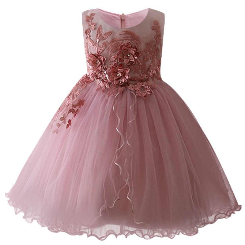 809e8d70fb0ec Girls New Birthday Romantic Dress Children Baby Sweet Flower Girl ...