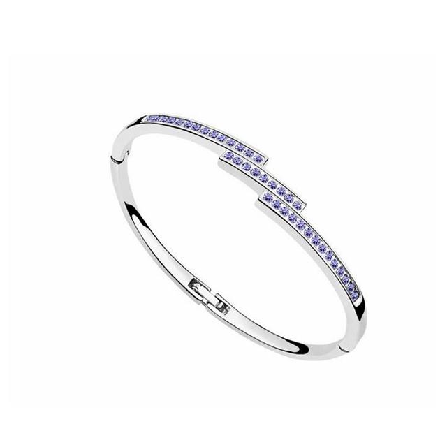 Swarovski Crystal Bangles For Women Birthday Gift