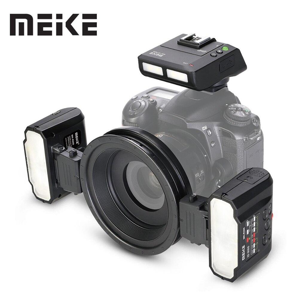 Meike MK-MT24 Macro Twin Lite Flash per la Macchina Fotografica Nikon REFLEX Digitale D5100 D5200 d5300 D700 D800 D810 D80 D90 D600 d610 D3100 D3200