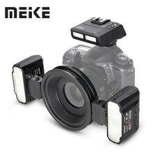 Макросъемка Meike, макро вспышка Twin Lite для цифровой зеркальной камеры Nikon D5100 D5200 d5300 D700 D800 D810 D80 D90 D600 D610 D3100 D3200
