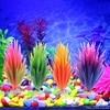 Artificial Plastic Plant Narcissus Water Grass Fish Tank Aquarium Decor Ornament yy56