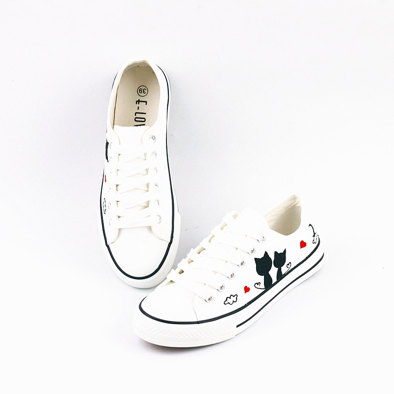 Women s shoes 2018 summer new canvas shoes casual tenis feminino for women  sneakers flat shoes with laces white  25d52c2ae155f