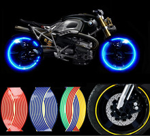 "Update! 16'17'18"" Motorcycle Styling Wheel Hub Rim Stripe Reflective Decal Stickers For YAMAHA HONDA SUZUKI Harley-Davidson"