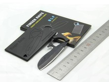 50 pcs/lot credit card finger knife ,Olecranon eagle folding mini knife, outdoor pocket wallet multi knife EDC